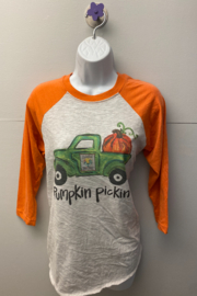 Kindred Mercantile  Baseball tee pumpkin truck - Product Mini Image