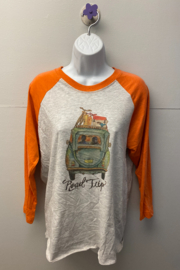 "Kindred Mercantile  Baseball tee ""Road Trip"" - Product Mini Image"