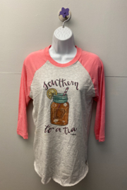 "Kindred Mercantile  Baseball tee ""Southern to a Tea"" - Product Mini Image"