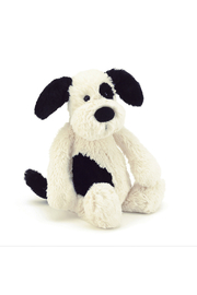 Jellycat Bashful Black & Cream Puppy Huge - Front cropped