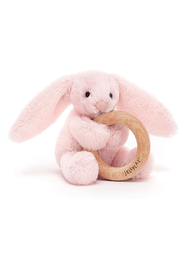Jellycat  Bashful Blush Bunny Wooden Ring Toy - Product Mini Image