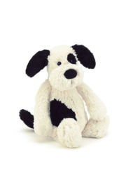 Jelly Cat Bashful Puppy Black & Cream Small - Product Mini Image