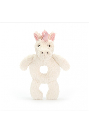 Jellycat Bashful Unicorn Ring Rattle - Product Mini Image