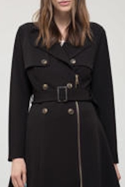Blu Pepper Basic Black Trench - Product Mini Image