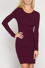 She + Sky Basic Bodycon Dress - Product Mini Image