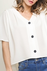 Umgee USA Basic Button Up top - Front cropped