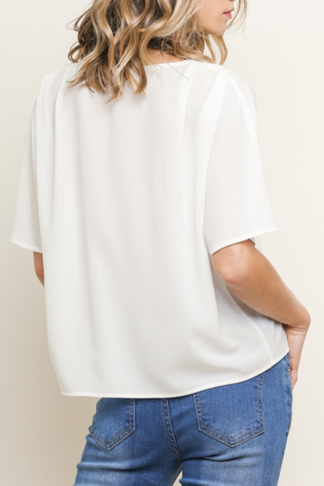 Umgee USA Basic Button Up top - Front Full Image
