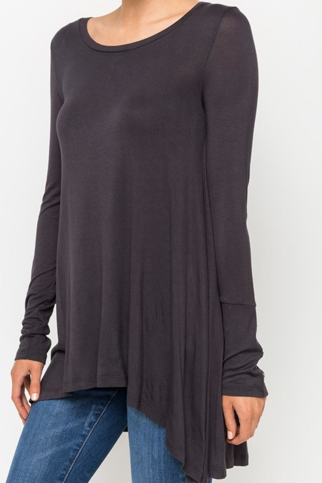 Mystree Basic Charcoal Top - Front Full Image