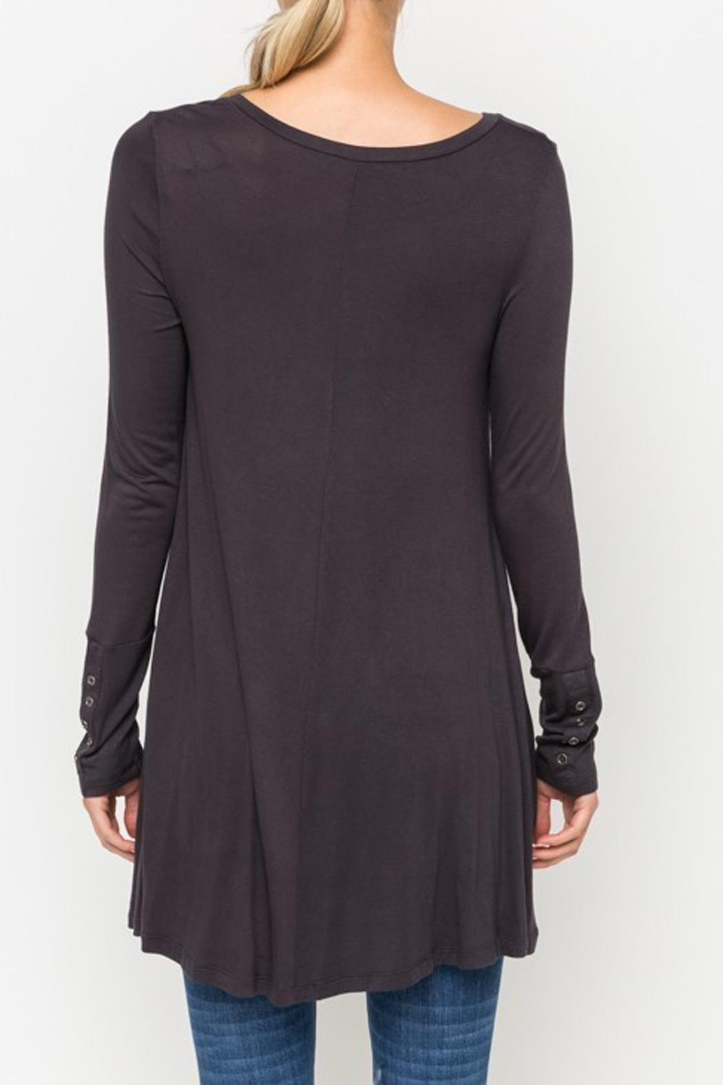 Mystree Basic Charcoal Top - Side Cropped Image
