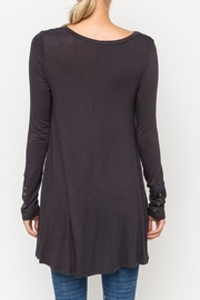 Mystree Basic Charcoal Top - Side cropped