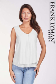 Frank Lyman Basic Chiffon Top, Multiple Colors - Front cropped