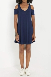 Mai Tai Basic Cold-Shoulder Shirt-Dress - Front cropped