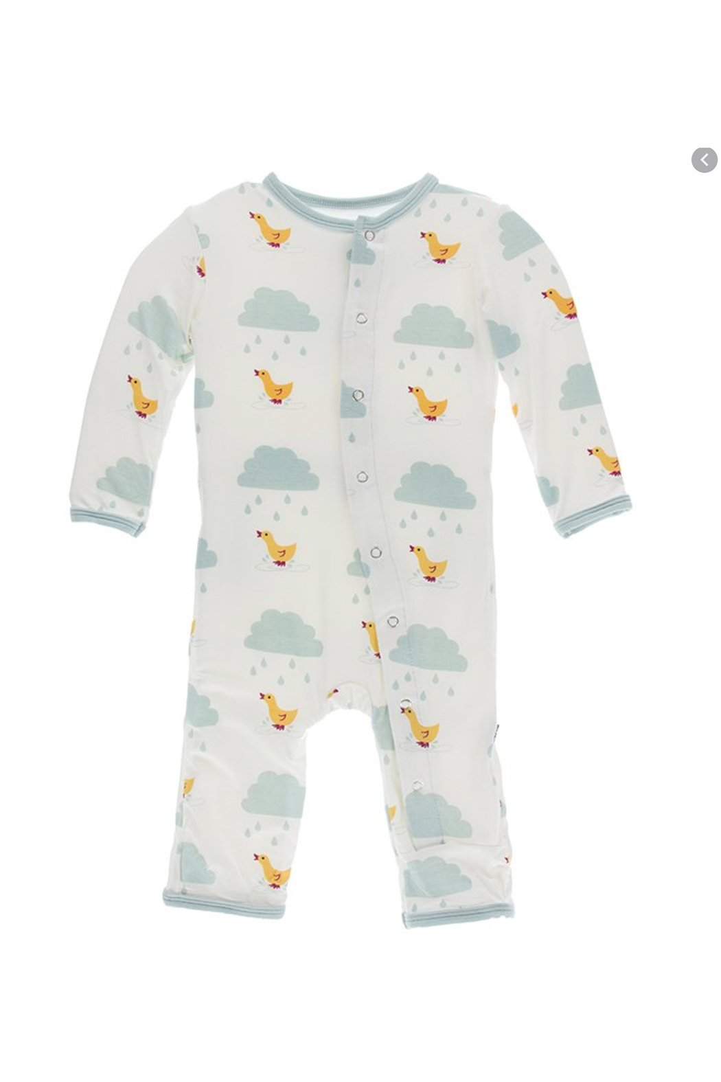 Kickee Pants Basic Coverall with Zipper in Puddle Duck - Main Image