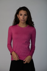 Meli by FAME Basic Crew Sweater - Front cropped