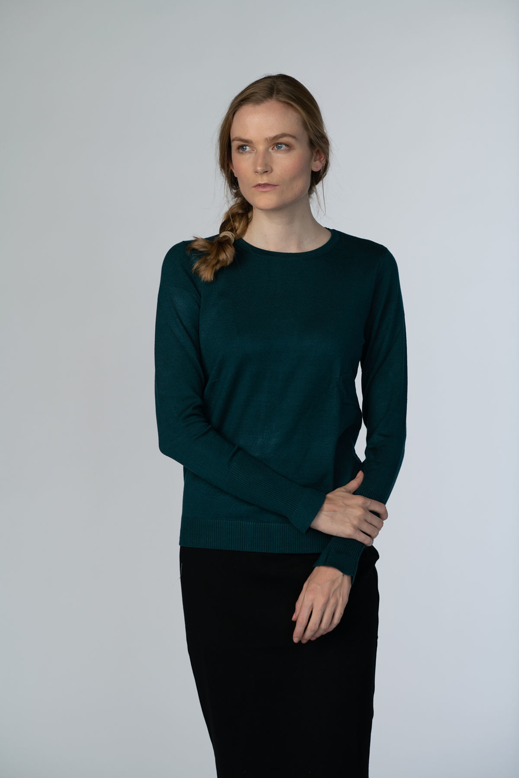 Meli by FAME Basic Crew Sweater - Front Cropped Image