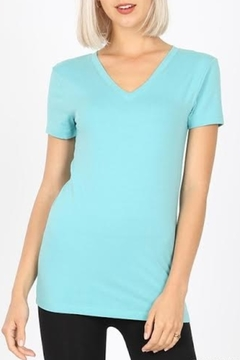 Shoptiques Product: Basic Fitted V-Neck Tee