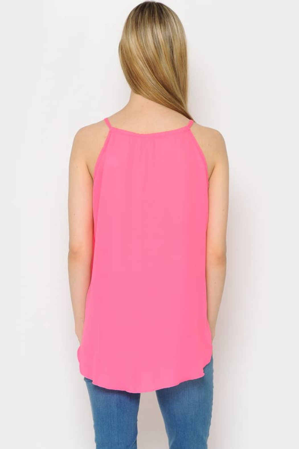 Now N Forever -Basic Loose Tank Top - Front Full Image