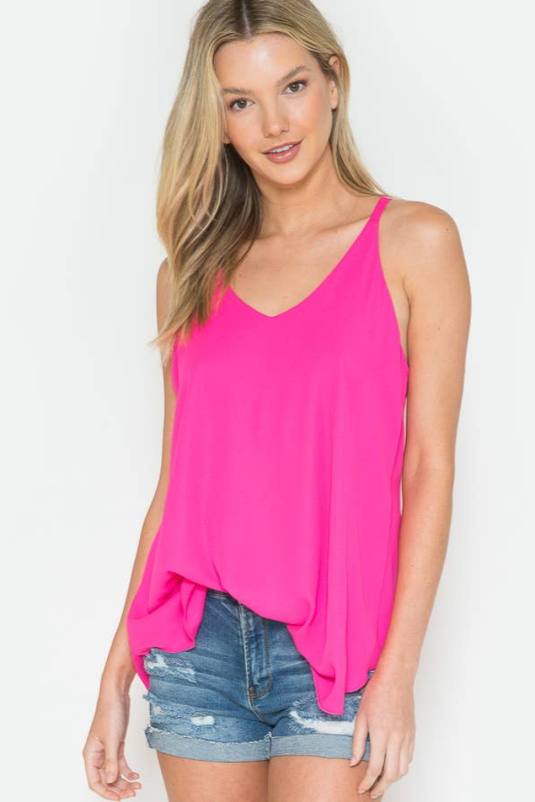 Now N Forever -Basic Loose Tank Top - Main Image