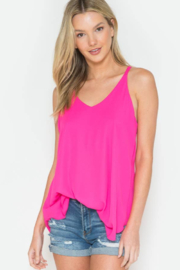 Now N Forever -Basic Loose Tank Top - Front cropped