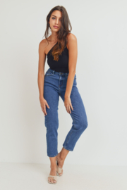 Just Black Denim Basic Mom Jean - Product Mini Image