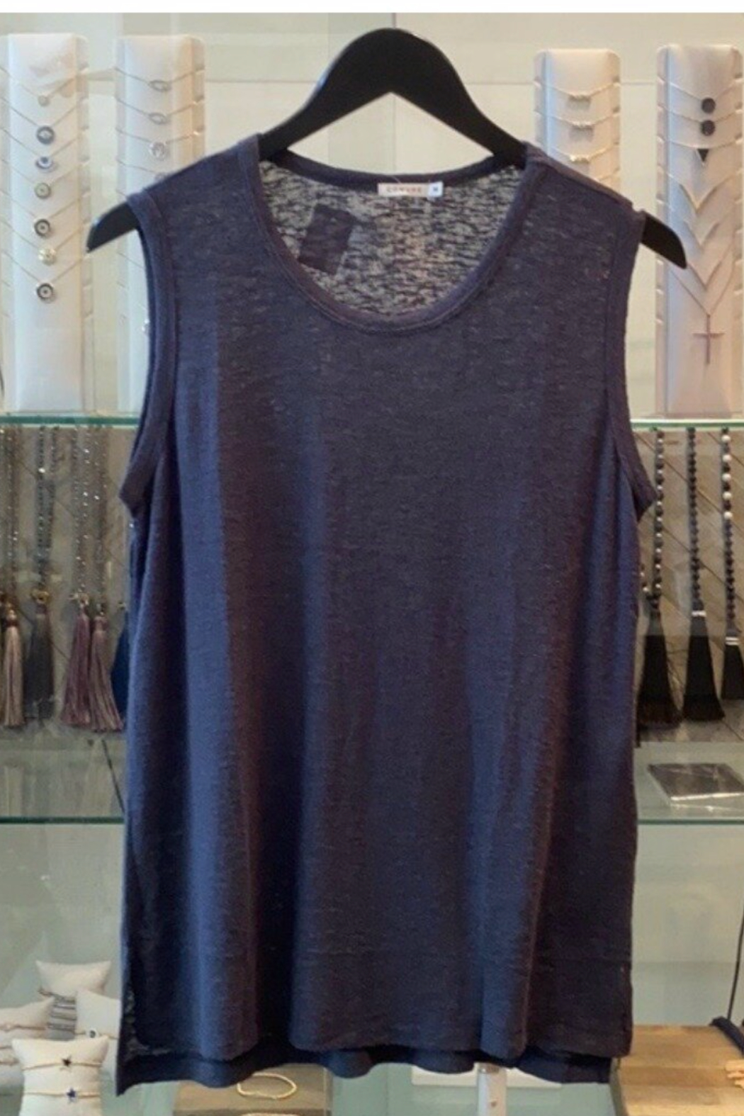 Comune Basic Navy Tank - Front Cropped Image