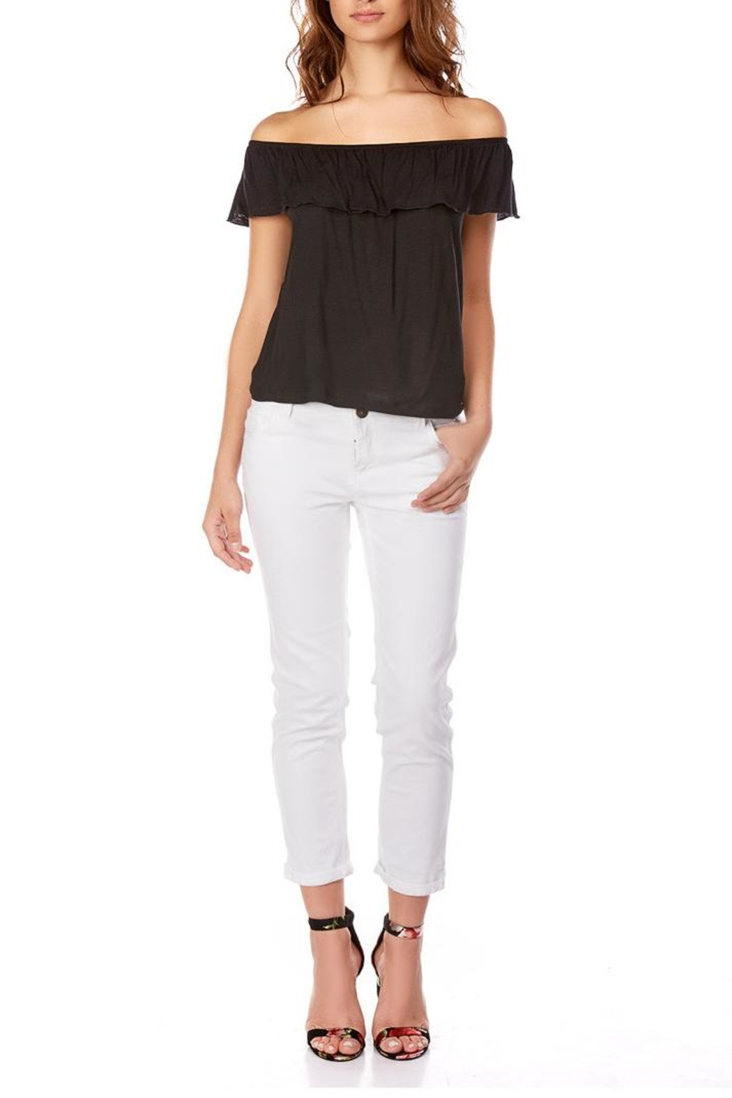 Best Mountain Basic Off-Shoulder Top - Front Cropped Image
