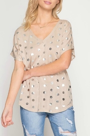 She + Sky Basic Polka Dotty - Front cropped