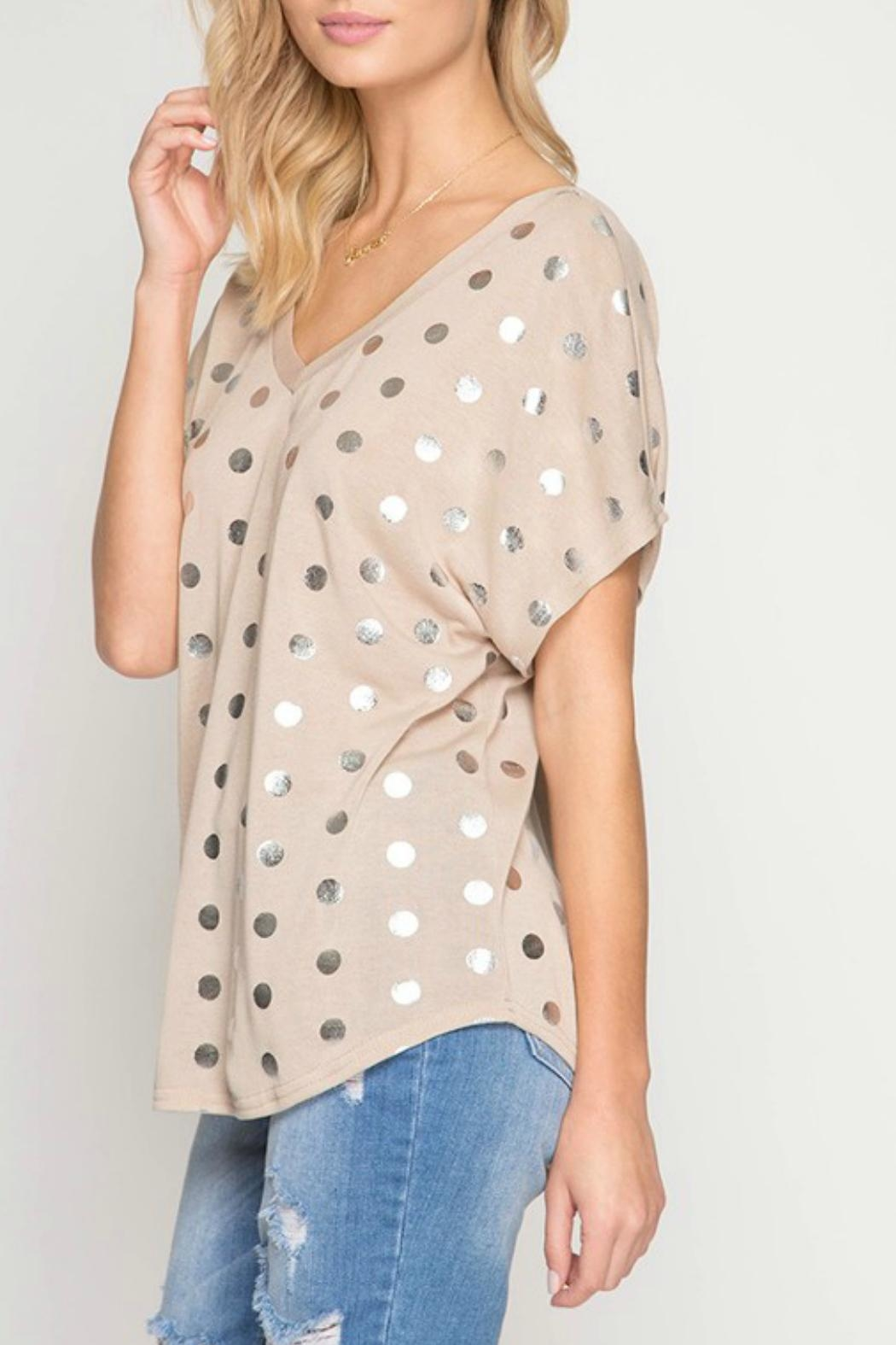 She + Sky Basic Polka Dotty - Front Full Image