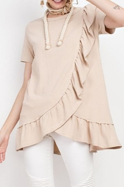 easel Basic Ruffle Tunic - Product Mini Image