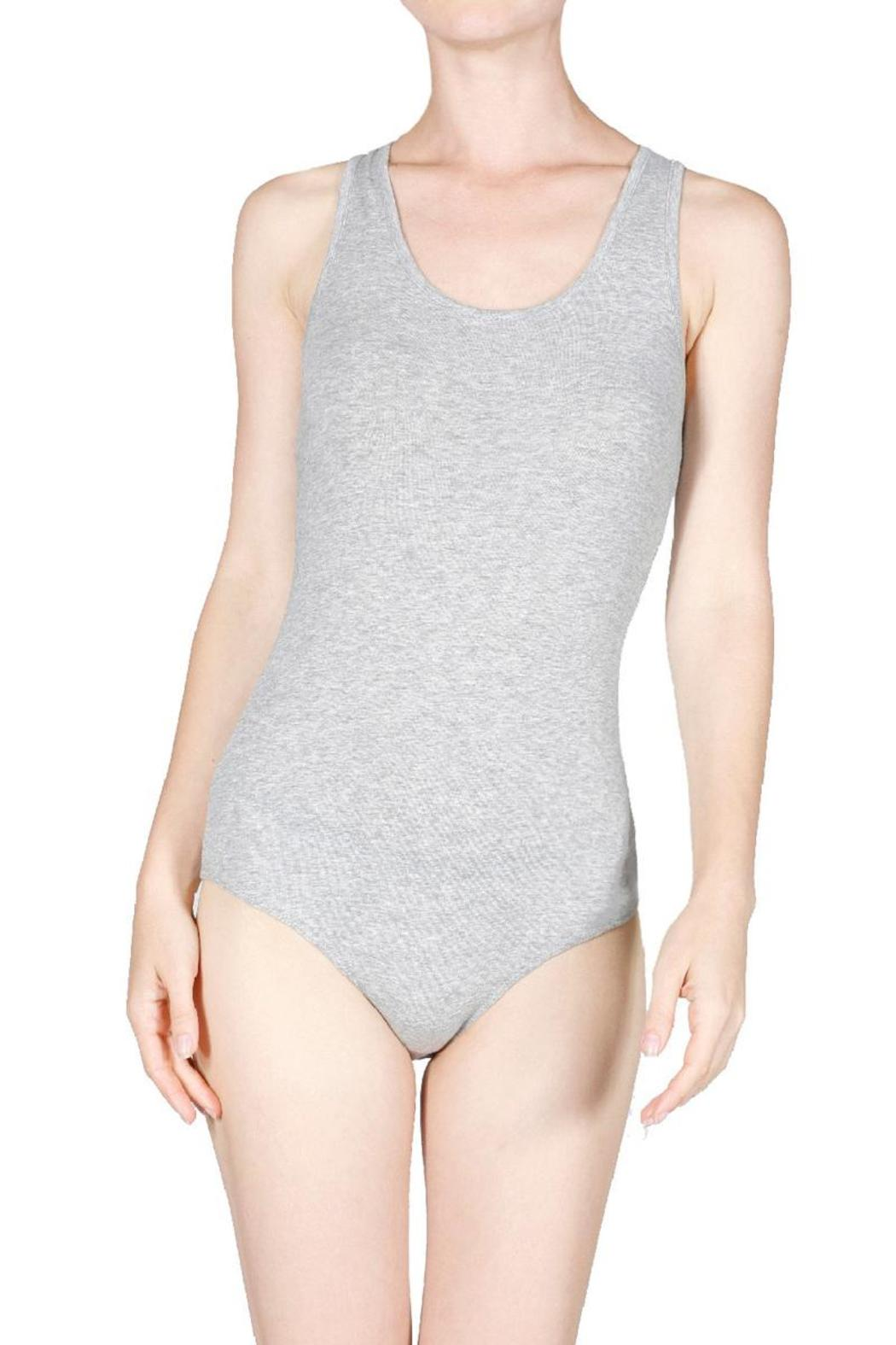 Sleeveless Scoop-Neck Bodysuit - Front Cropped Image