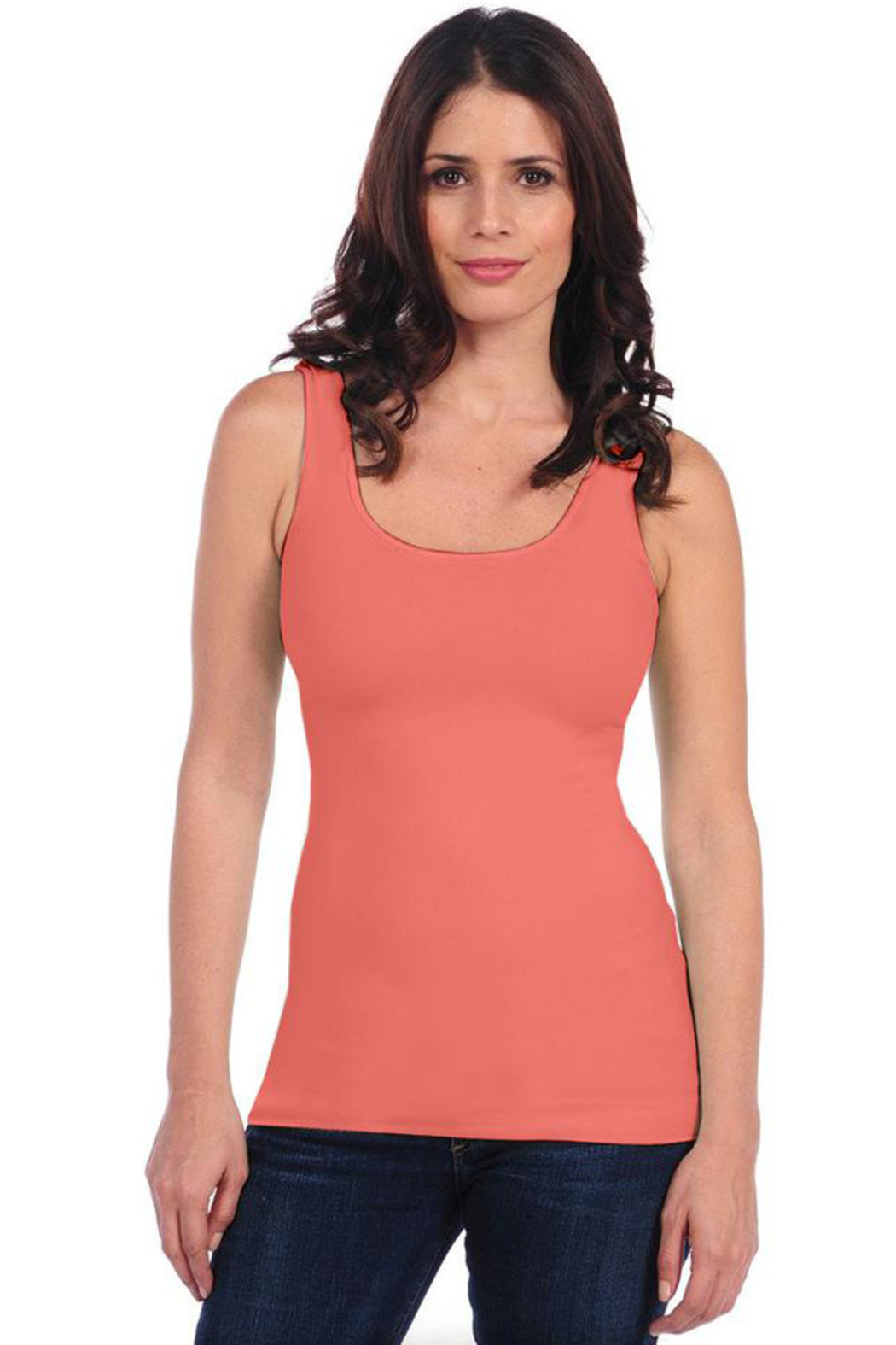 Tees by Tina BASIC SMOOTH TANK - Front Cropped Image
