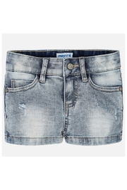 Mayoral BASIC STRETCH DENIM SHORT - Front cropped