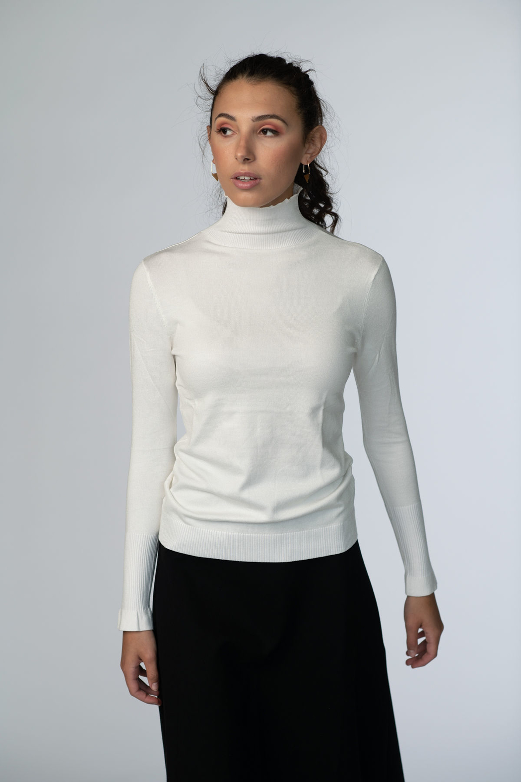 Meli by FAME Basic Turtleneck - Front Cropped Image