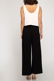 She + Sky Basic Wide Leg Pants - Front full body