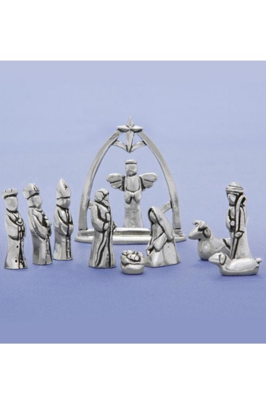Basic Spirit Miniature Pewter Nativity - Main Image