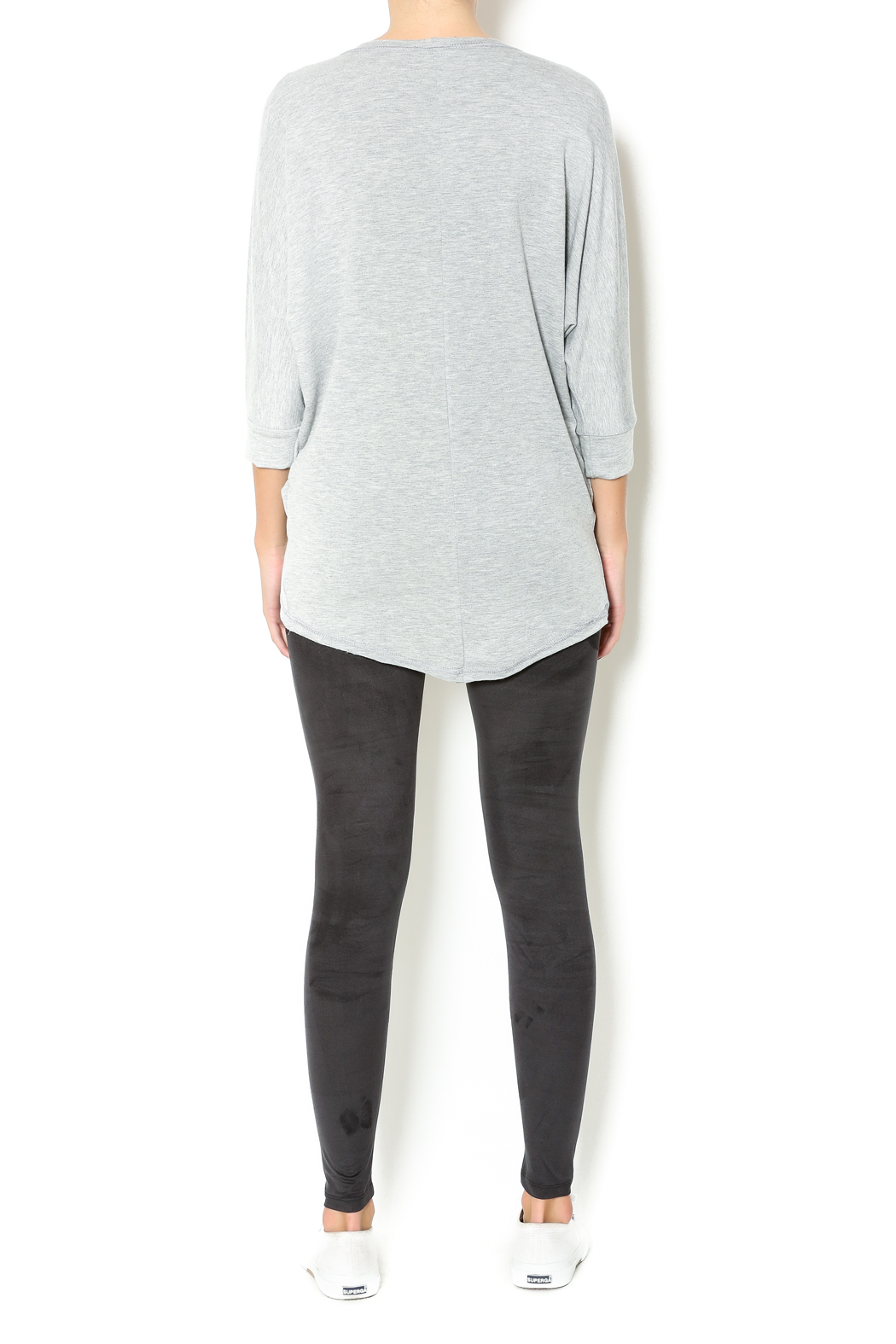 Basically Me Faux Suede Leggings - Side Cropped Image