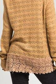 Basil & Lola Cream Lace Cuffed Cardigan - Side cropped