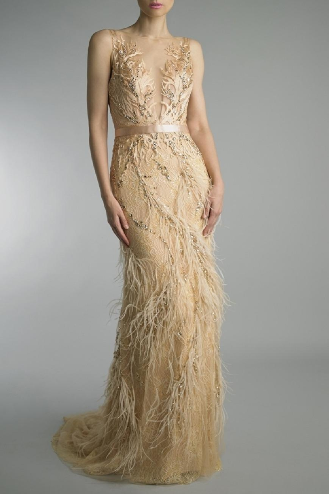 Basix Embroidered Evening Gown - Main Image