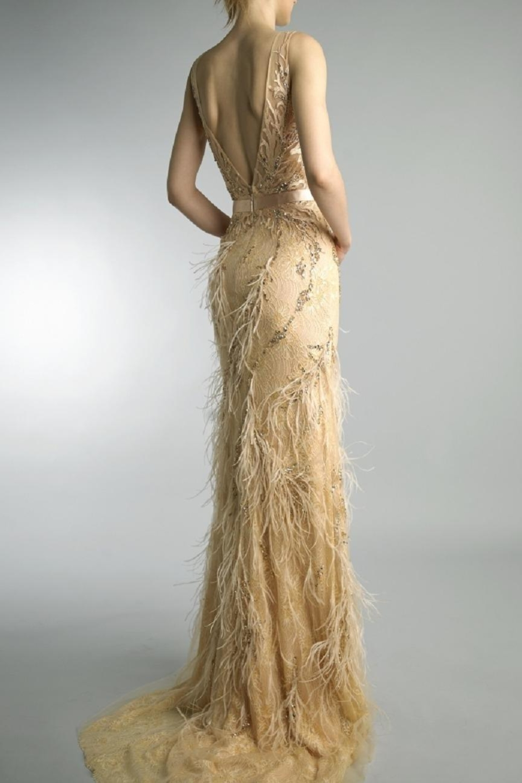Basix Embroidered Evening Gown - Front Full Image