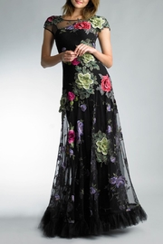 Basix Floral Applique Gown - Product Mini Image
