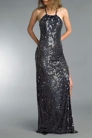 Basix Sequin Halter Gown - Product Mini Image