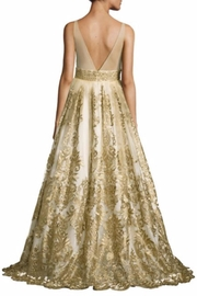 Basix Sleeveless Embroidered Gown - Front full body