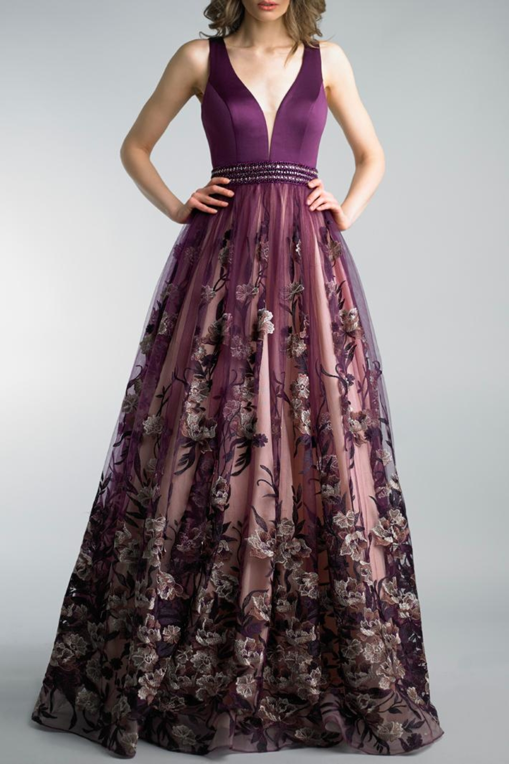 Basix Sleeveless Evening Gown - Front Cropped Image