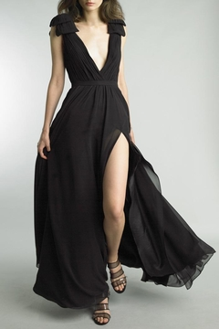 Basix Sleeveless Pleated Gown - Product List Image