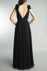 Basix Sleeveless Pleated Gown - Front full body