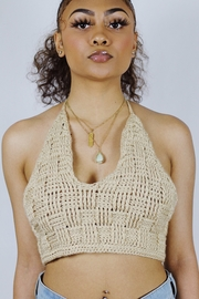 Ta Ta's Boutique Basket Weave Halter Top - Product Mini Image