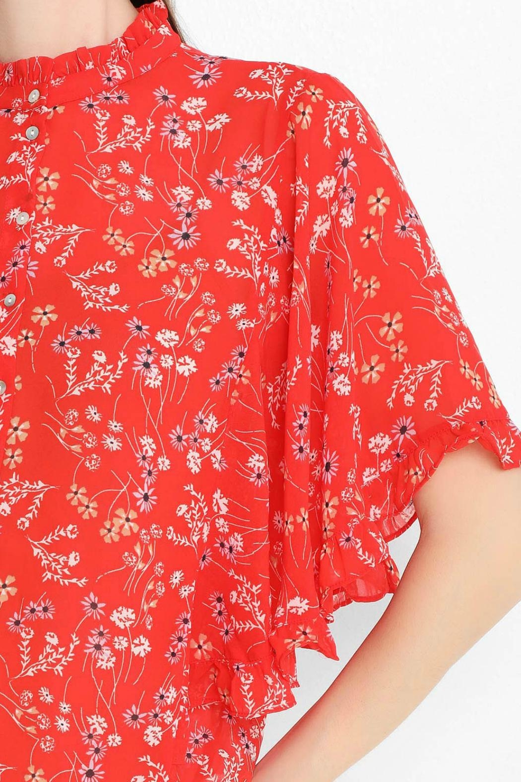 Vero Moda Bat-Wing Floral Top - Side Cropped Image