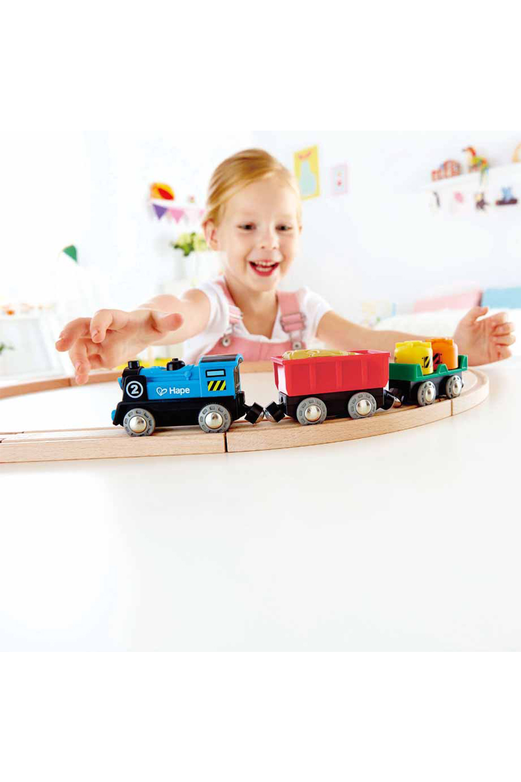 Hape  Battery Poweed Rolling-Stock Set - Front Full Image