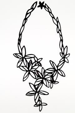Batucada Black Flower Necklace - Alternate List Image