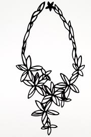 Batucada Black Flower Necklace - Product Mini Image